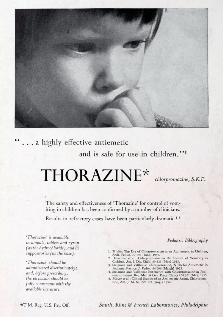 Old Thorazine medical ads from 1956 (2)