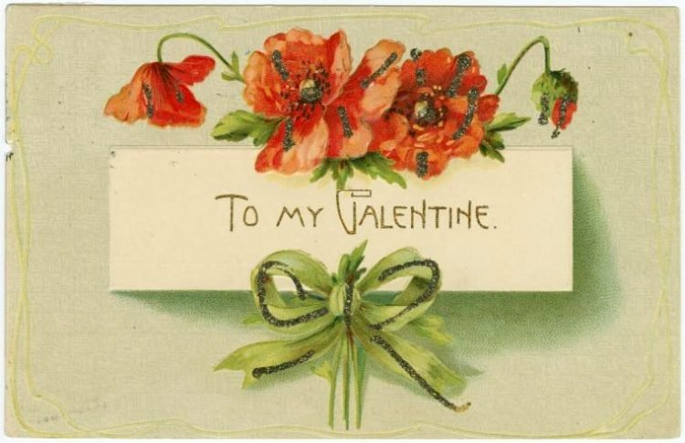 Old Valentine's Day postcard collection (1)
