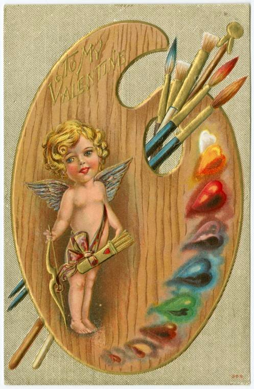 Old Valentine's Day postcard collection (10)