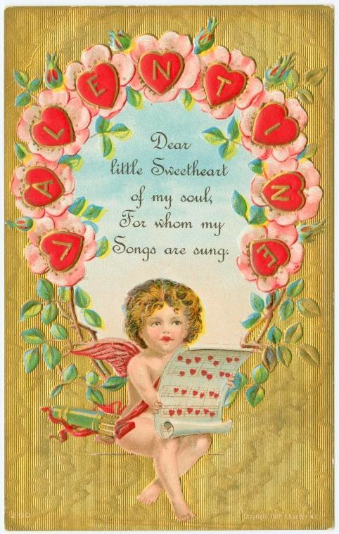 Old Valentine's Day postcard collection (3)