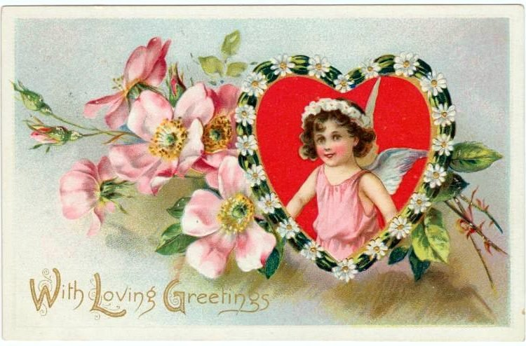 Old Valentine's Day postcard collection (4)