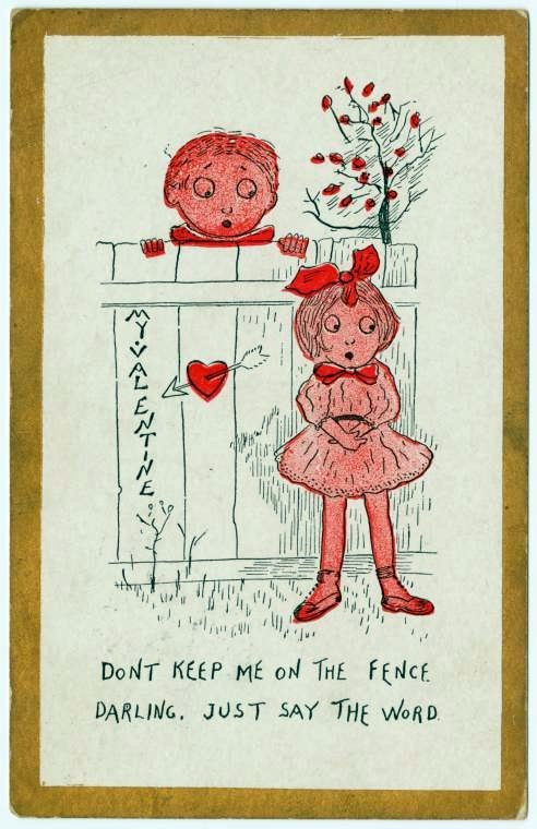 Old Valentine's Day postcard collection (5)