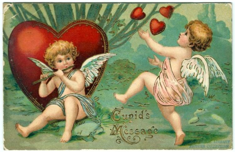 Old Valentine's Day postcard collection (6)