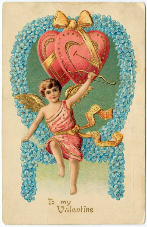Old Valentine's Day postcard collection (7)