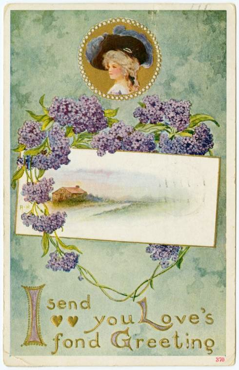 Old Valentine's Day postcard collection (8)