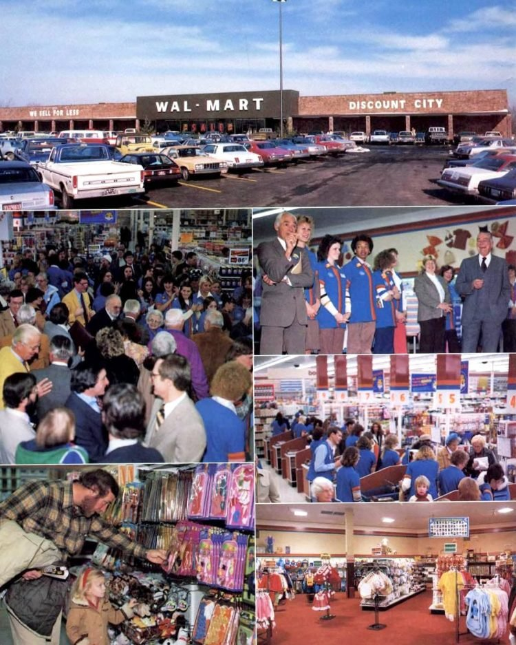 Old Wal-Mart store scenes from 1982