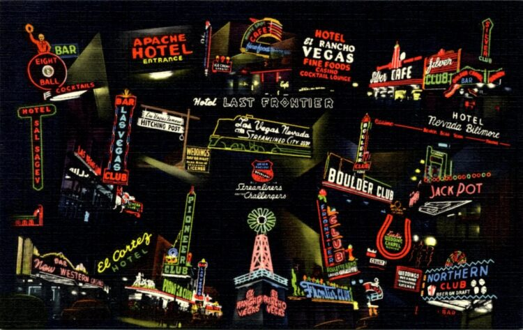 Old and Vintage Las Vegas hotel signs