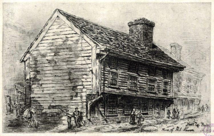 Old boston landmarks around 1903 - Home of Paul Revere, North Sq. Boston