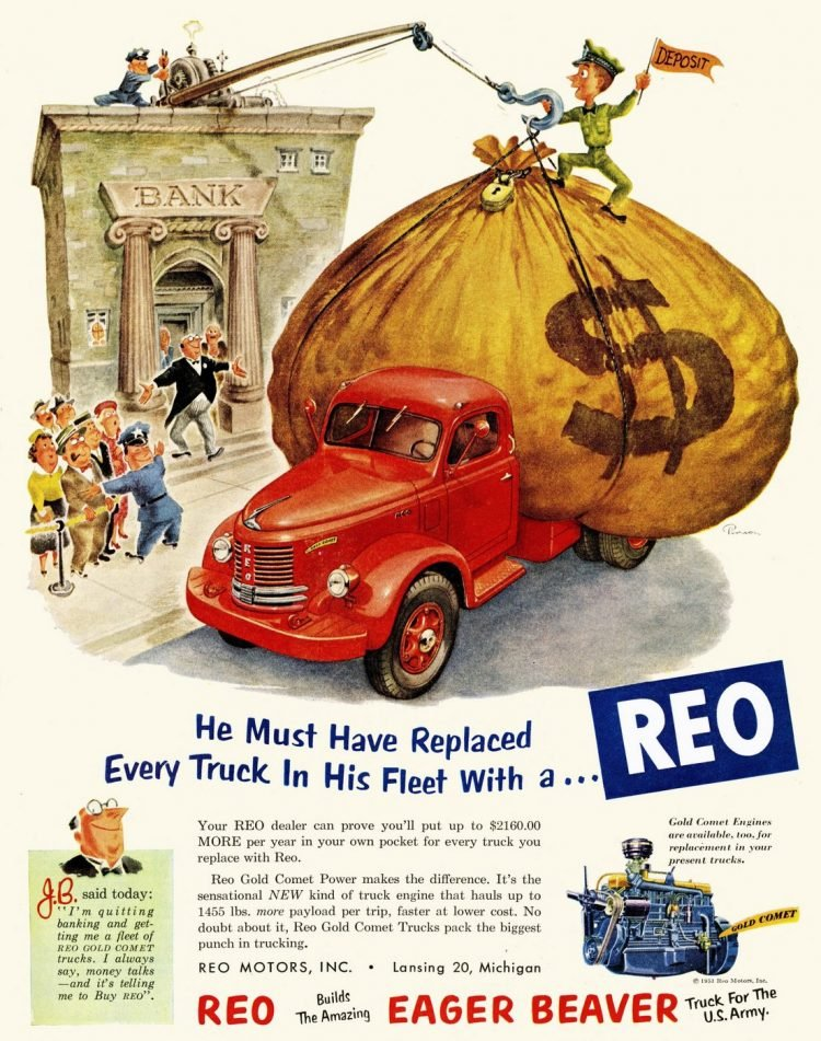 Old cars REO truck