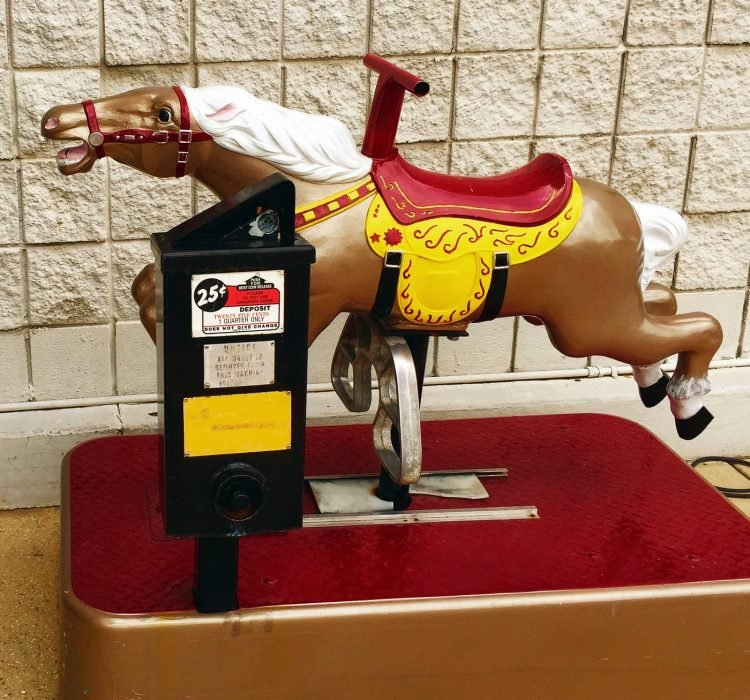 Old coin horse ride - 25 cents