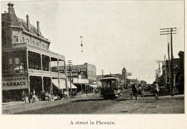 Old downtown Phoenix Arizona - 1900s