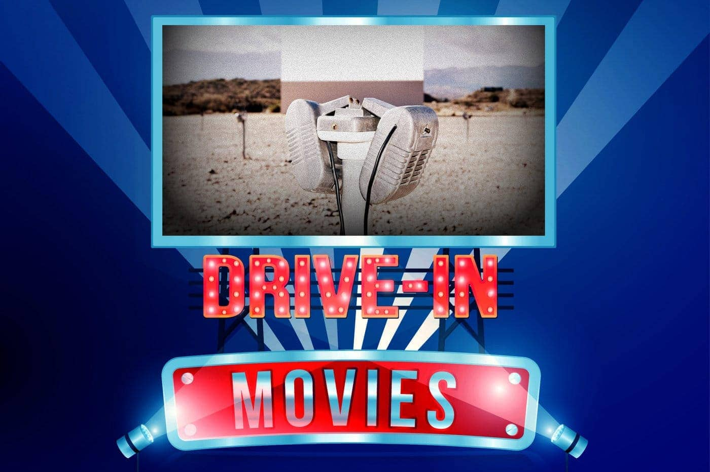 Old drive-in movie theaters