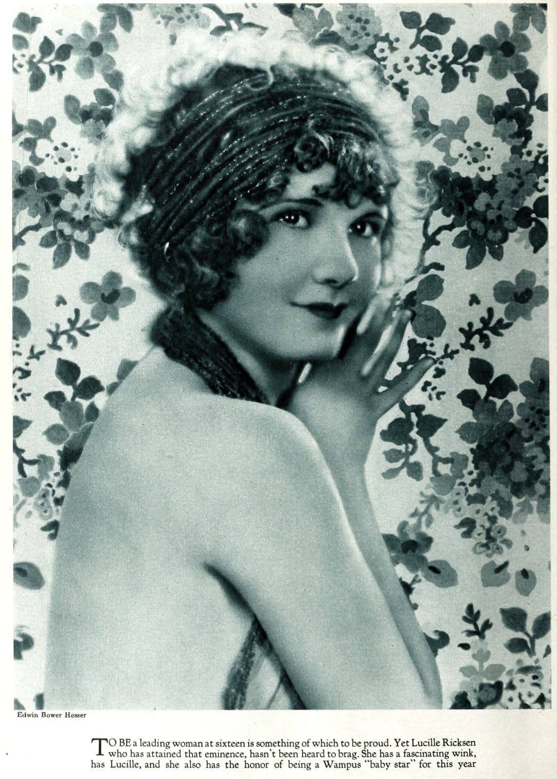 Old-fashioned 1920s womens hairstyles - actress Lucille Ricksen
