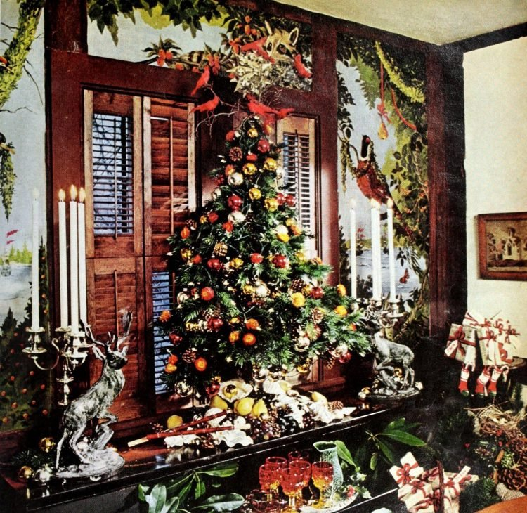Old-fashioned Christmas trees from 1975