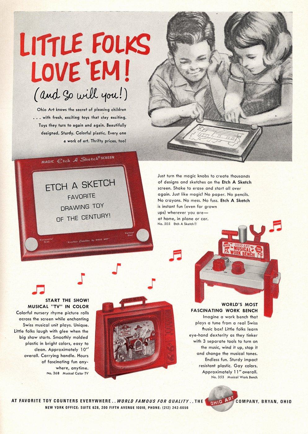 Old-fashioned Etch A Sketch toys - Ohio Arts 1967 (3)