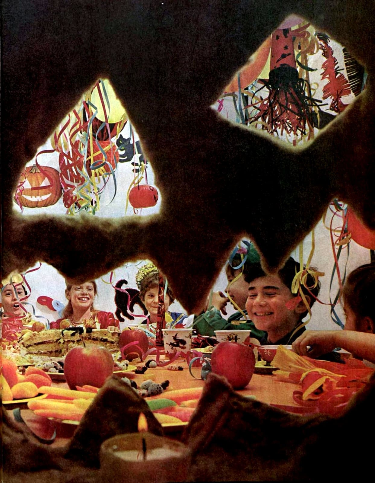 Old-fashioned Halloween party fun from 1961