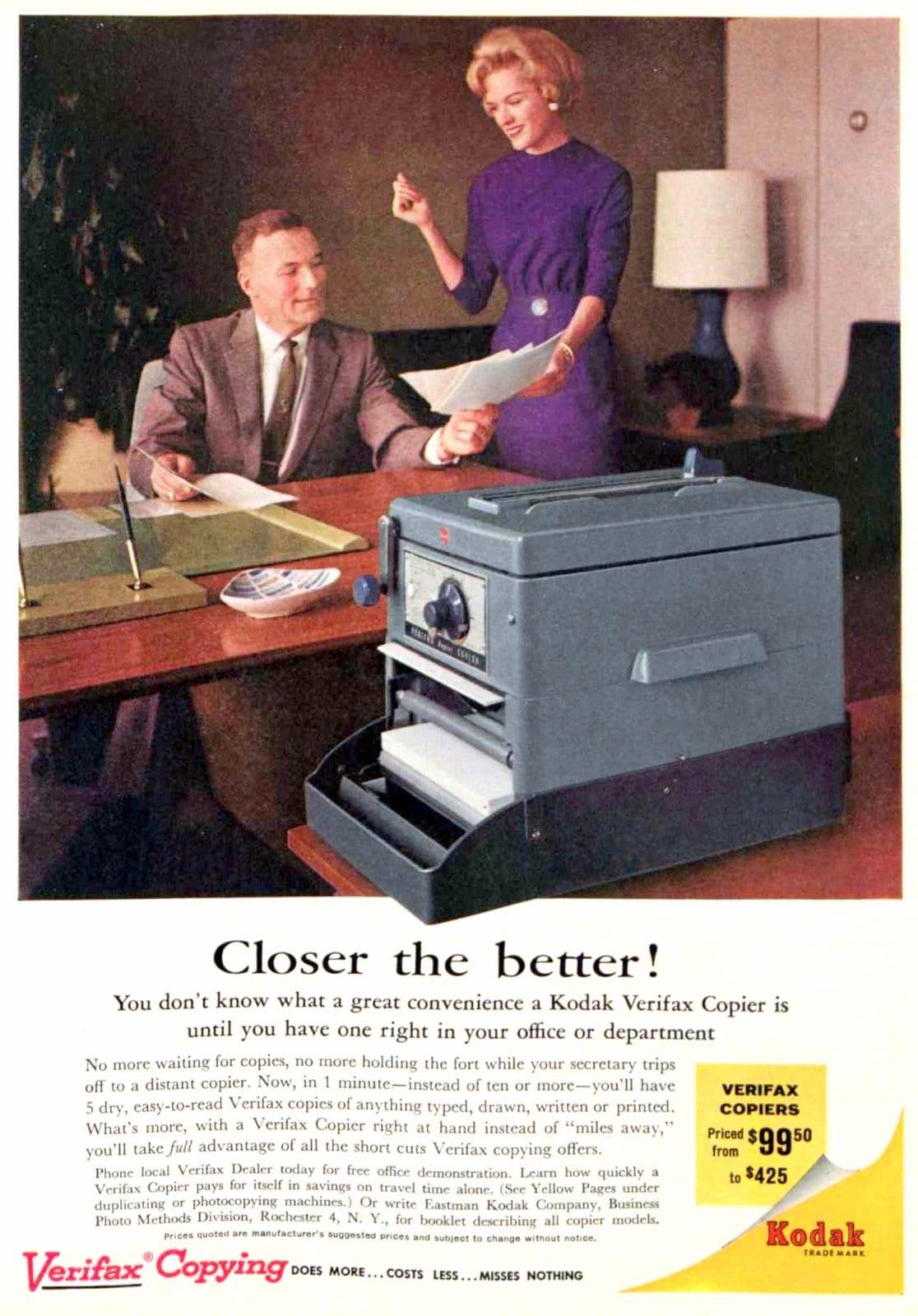 Old-fashioned Kodak Verifax Copying machine (1961)