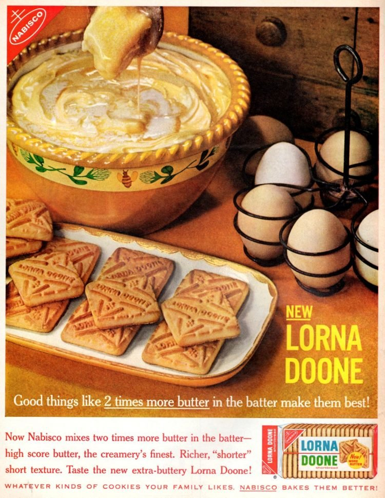 Old-fashioned Lorna Doone shortbread cookies (1962)