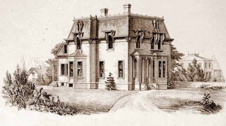 Old-fashioned Mansard homes from 1869 - Reconstruction era (2)