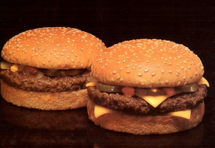 Old-fashioned McDonald's burgers from 1976