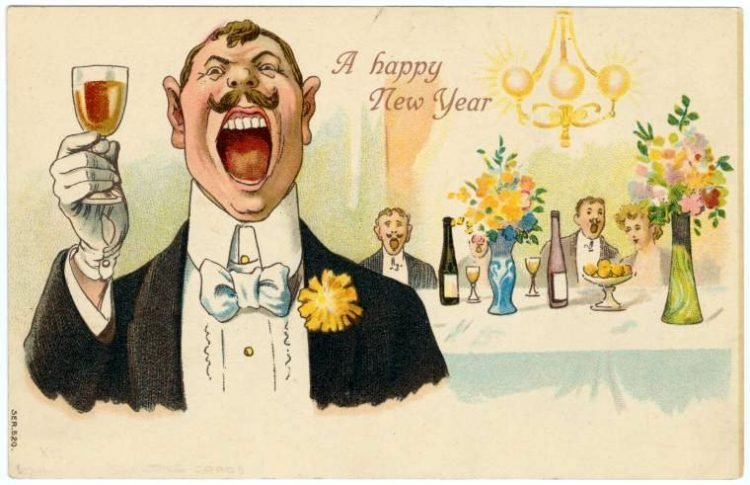 Old-fashioned New Year's postcards from Click Americana (10)