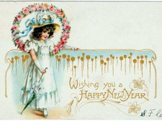 Old-fashioned New Year's postcards from Click Americana (14)