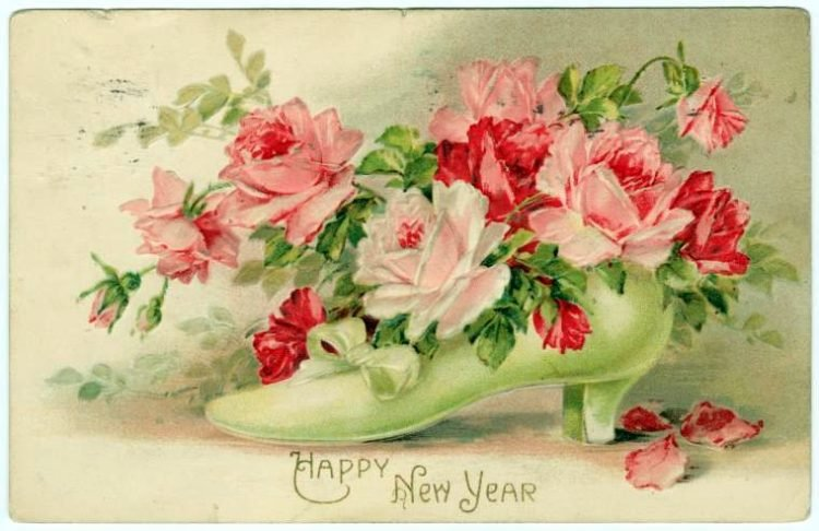 Old-fashioned New Year's postcards from Click Americana (2)