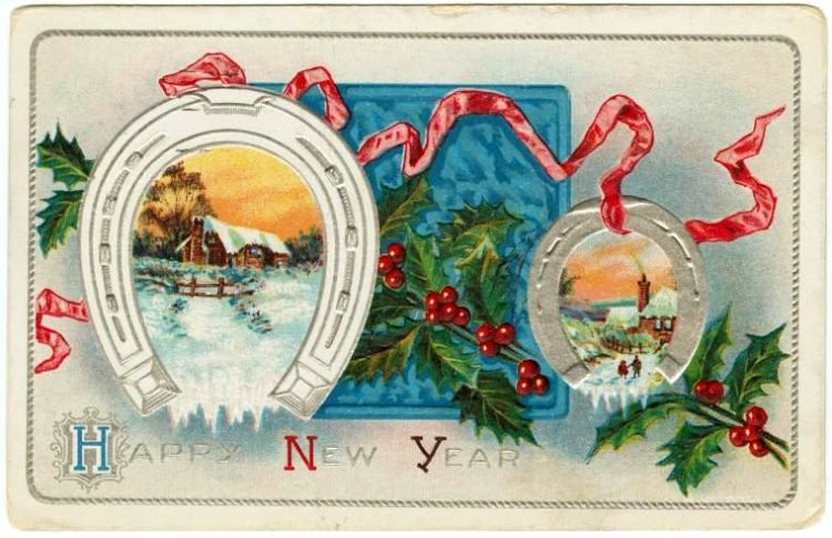 Old-fashioned New Year's postcards from Click Americana (4)