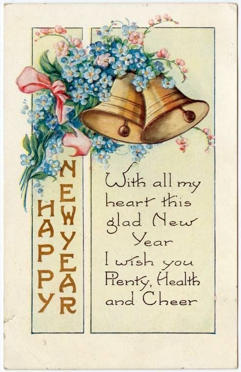 Old-fashioned New Year's postcards from Click Americana (6)