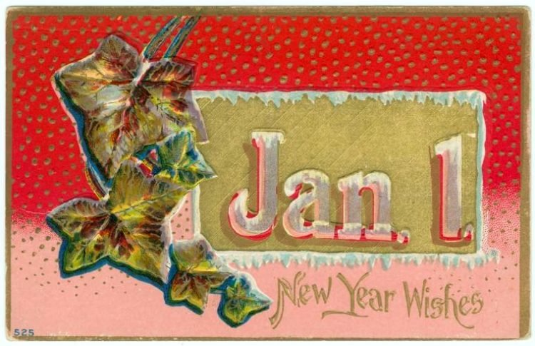 Old-fashioned New Year's postcards from Click Americana (7)