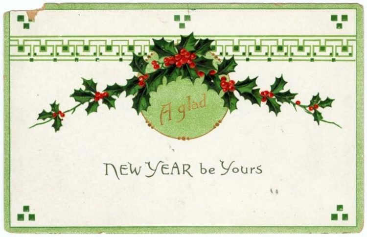 Old-fashioned New Year's postcards from Click Americana (8)