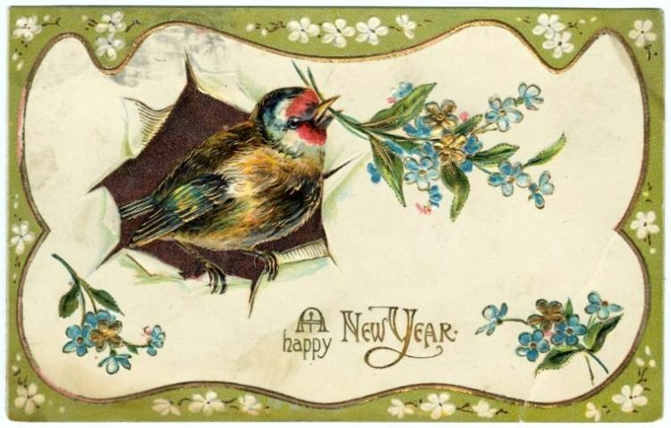 Old-fashioned New Year's postcards from Click Americana (9)