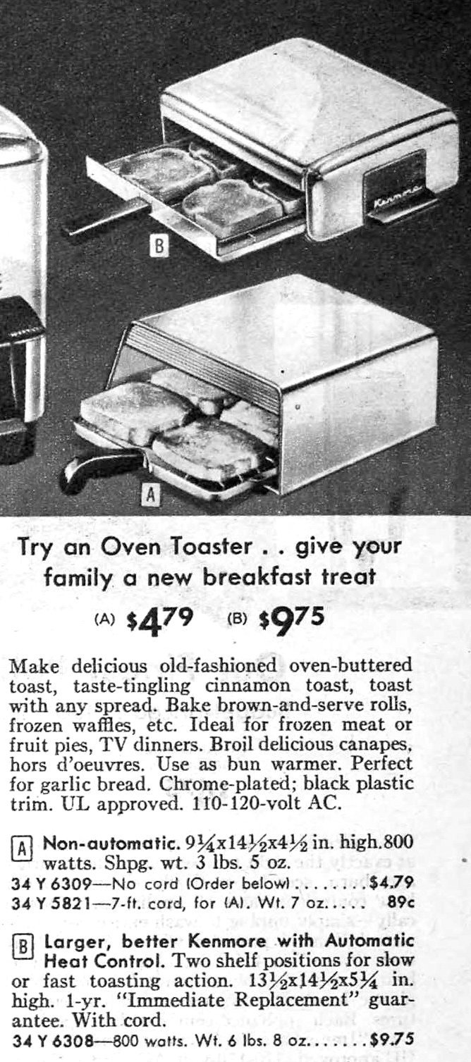 Old-fashioned Oven Toaster from Sears (1959)