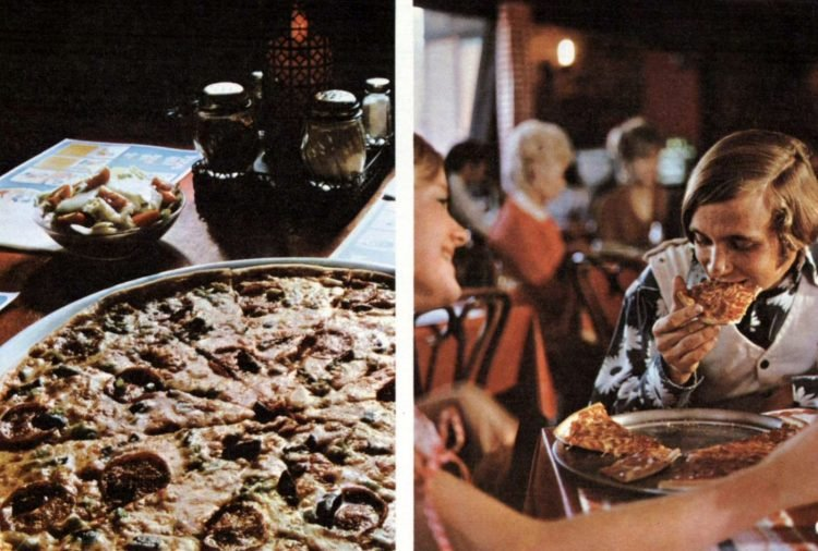 Old-fashioned Pizza Hut restaurants - 1973 (3)