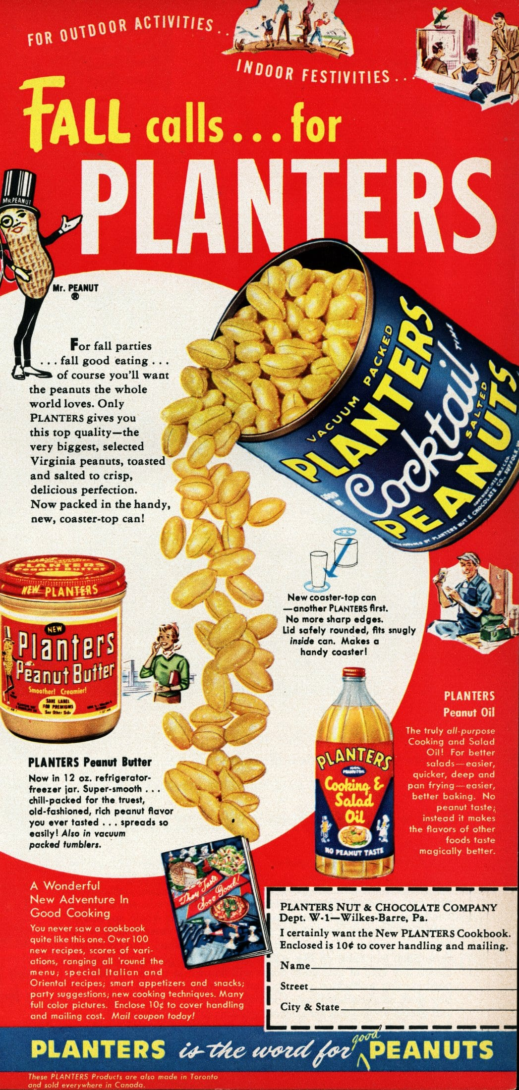Old-fashioned Planters peanut butter (1955)