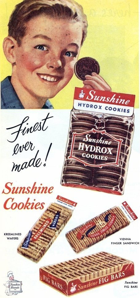 Old-fashioned Sunshine cookies (1952)