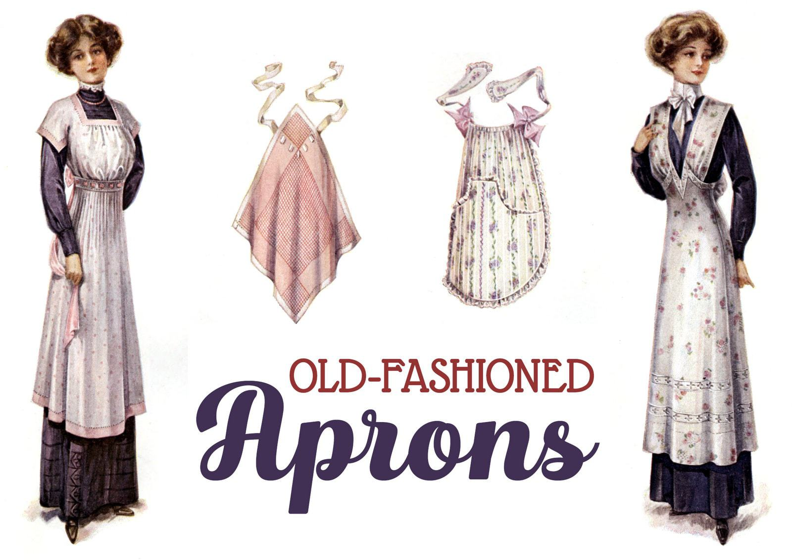 Old-fashioned aprons for women from 1911