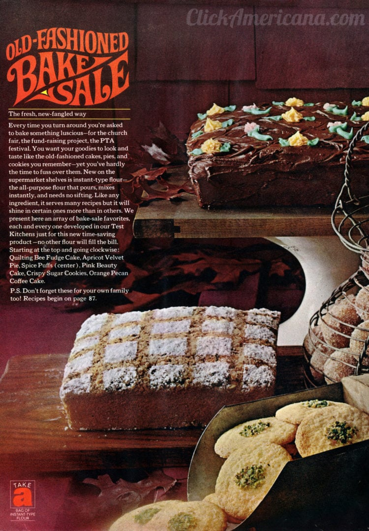 Old-fashioned bake sale recipes (1965)