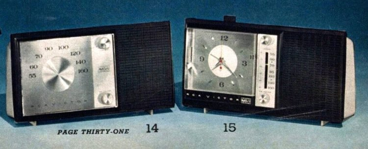 Old-fashioned clock radios from 1963 (1)