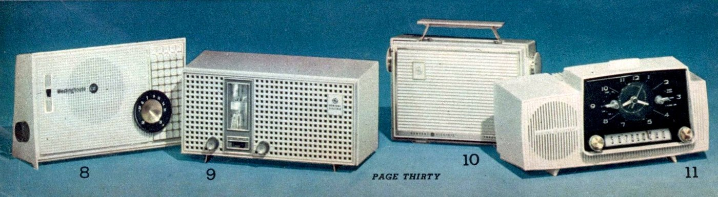 Old-fashioned clock radios from 1963 (2)