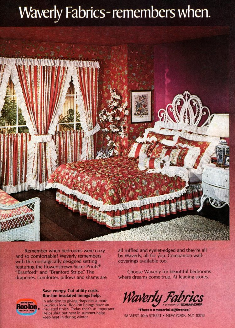 Old fashioned country-style bedding from 1979