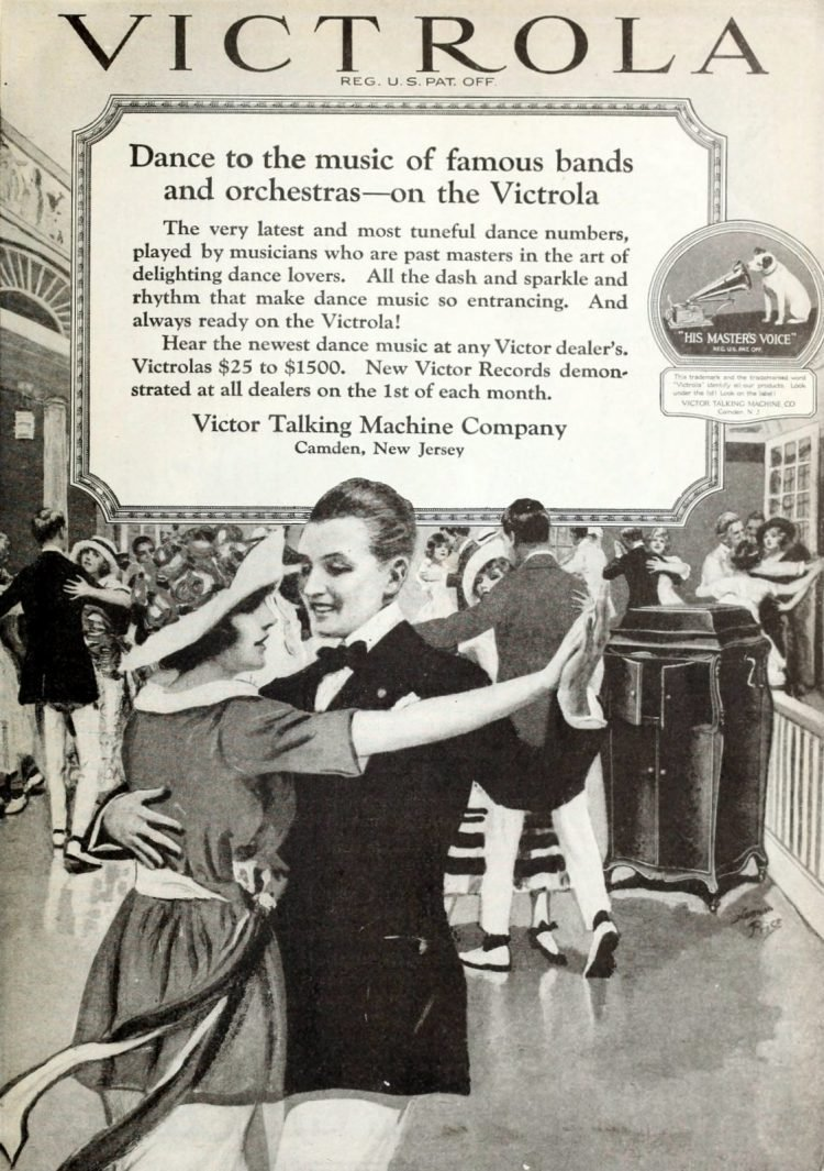 Old-fashioned dancing to the Victrola record music