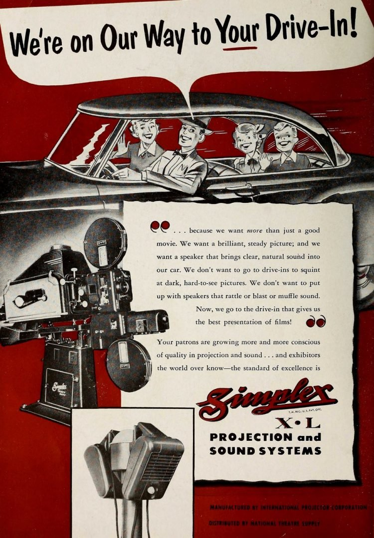 Old-fashioned drive in movies from 1953 (1)