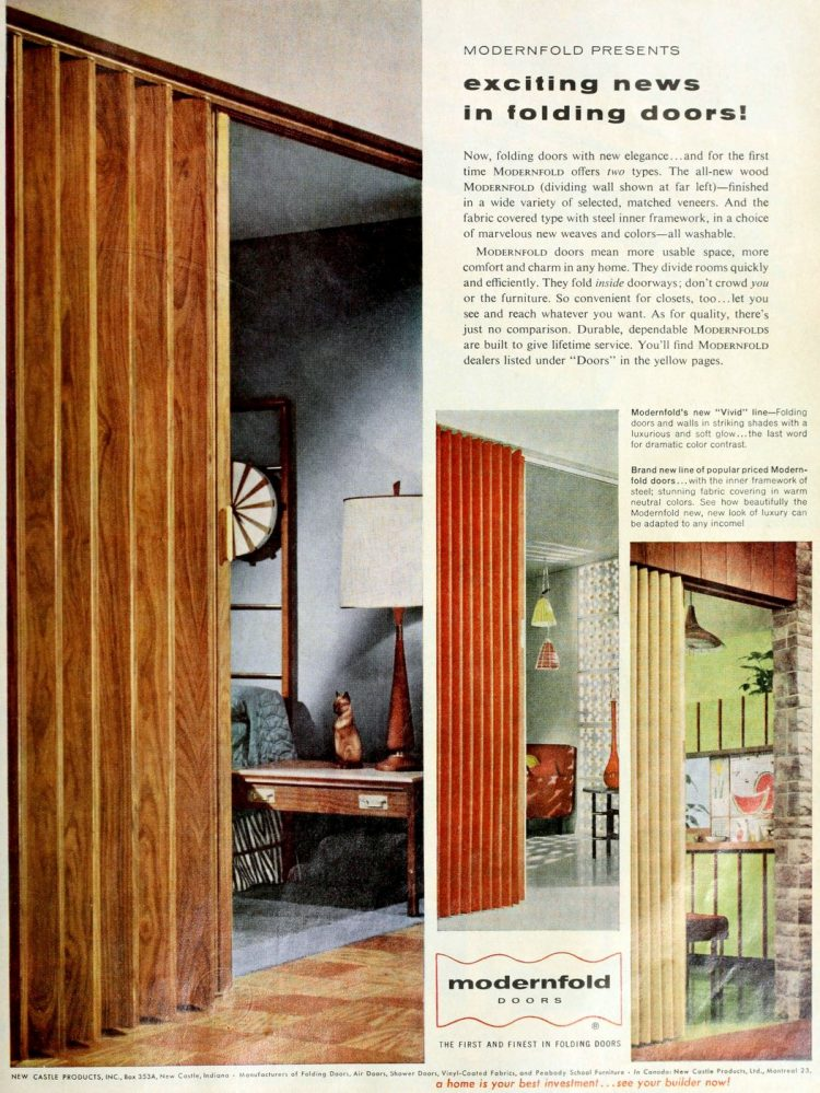 Old-fashioned folding door styles from the 1950s - 1959 (1)