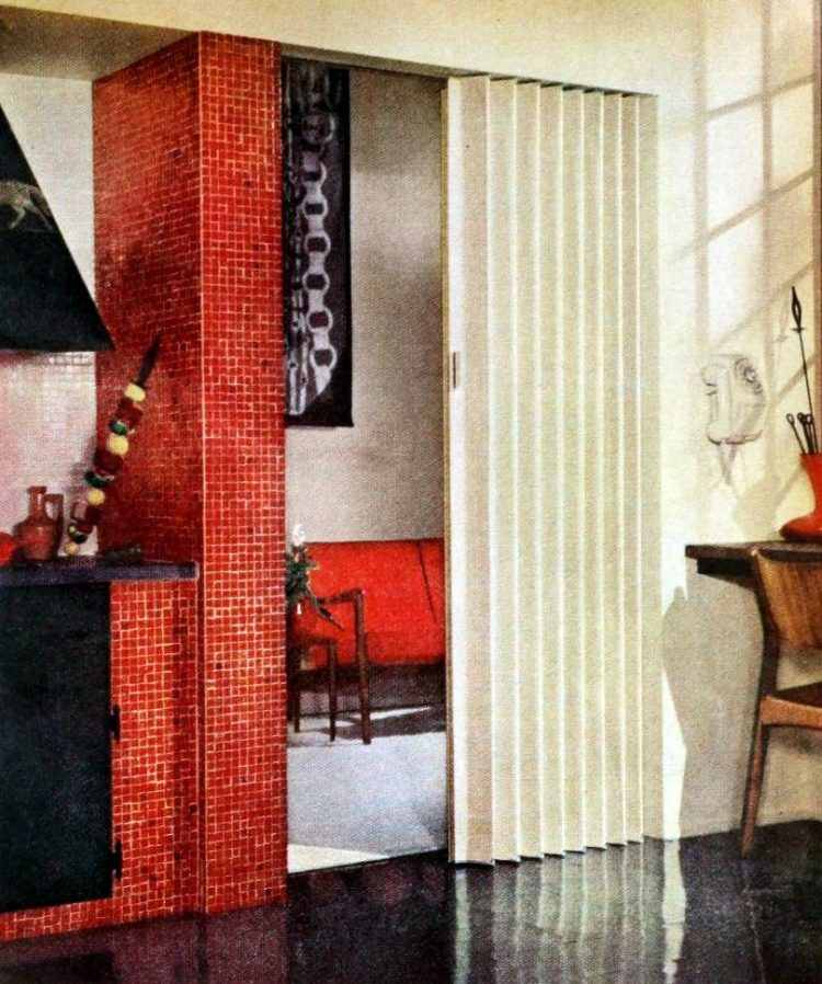 Old-fashioned folding door styles from the 1950s - 1959 (2)