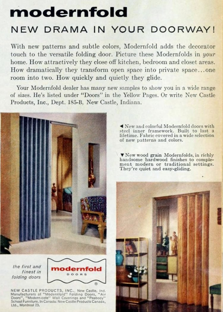 Old-fashioned folding door styles from the 1950s - 1959 (3)