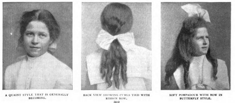 Old-fashioned hairstyles for girls from 1903 (1)