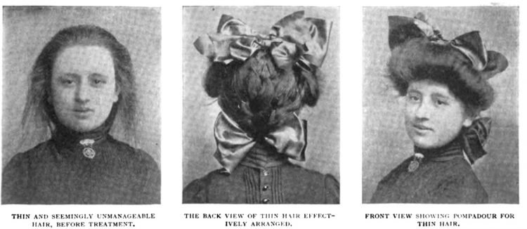 Old-fashioned hairstyles for girls from 1903 (3)