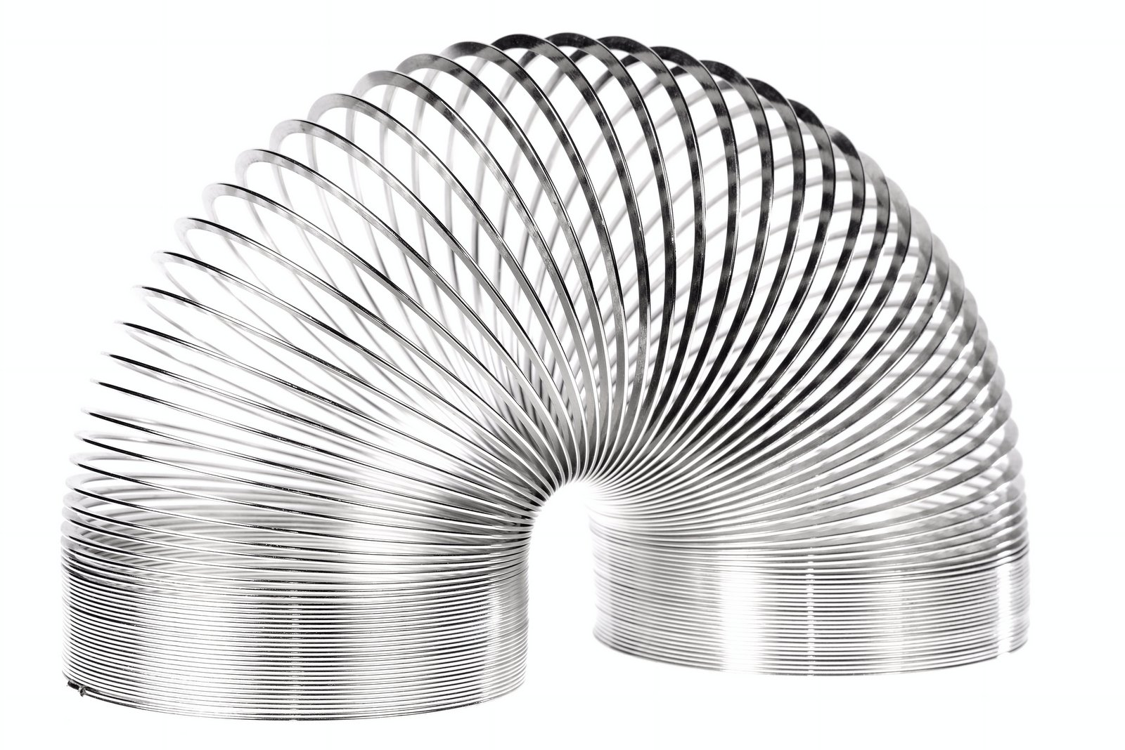 Old-fashioned metal Slinky toy