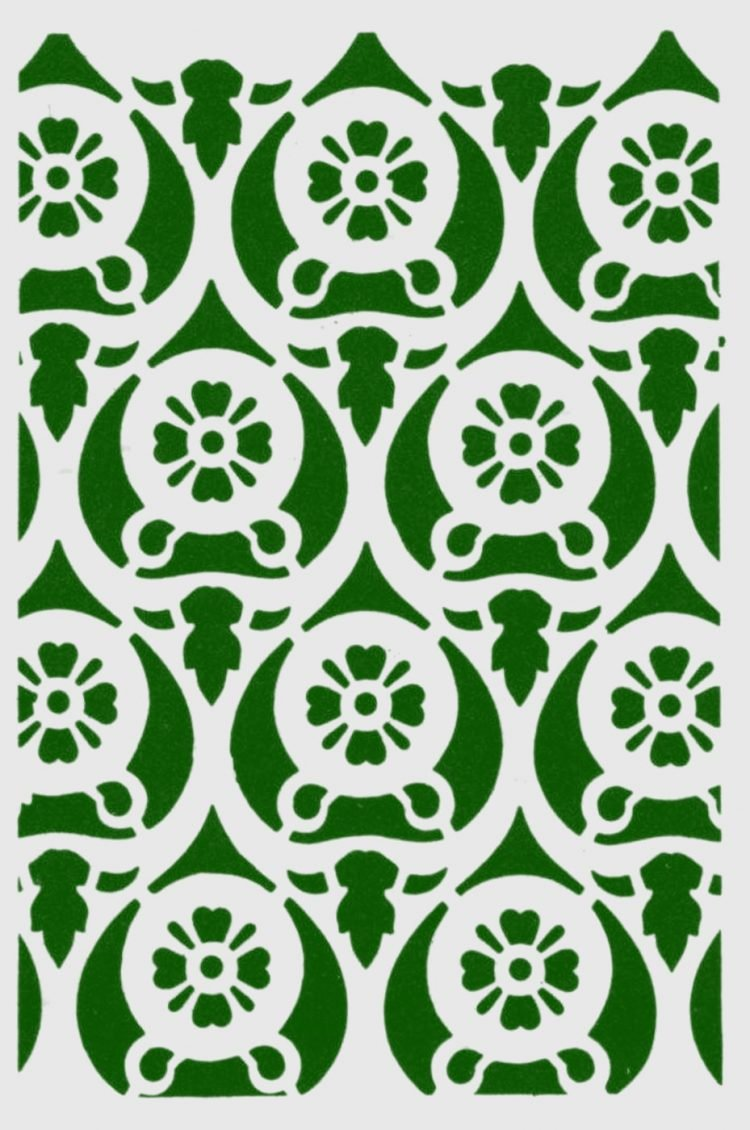 Old-fashioned stencil pattern from Click Americana (2)